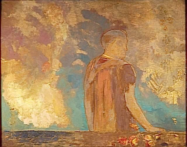 Le Regard (The Gaze), 1910 Odilon Redon
